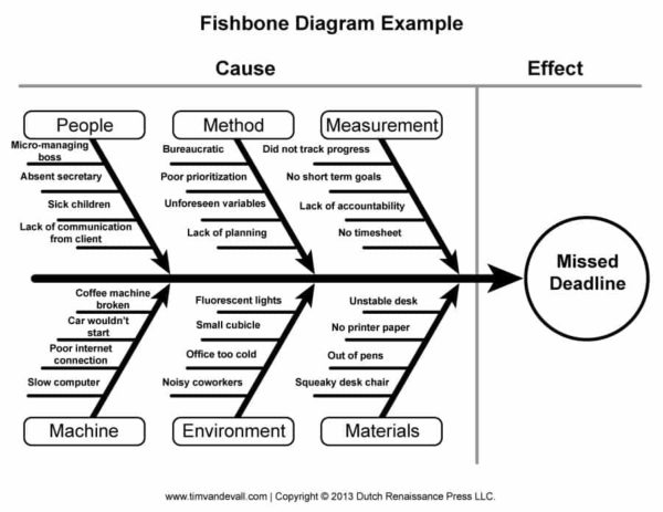 Example of a Fishbone Diagram