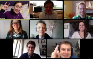 Remote Team Collaborating